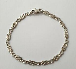 Sterling silver Celtic knot link design Italian bracelet