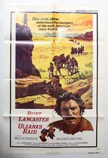 Genuine Theatrical Movie Poster 'Ulzana's Raid' (1972). Folded 1 Sheet