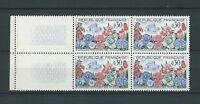 FRANCE - 1963 YT 1369 bloc de 4 FLEURS - TIMBRES NEUFS** LUXE