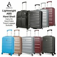 Aerolite Lightweight ABS Hard Shell Carry On Hand Cabin Travel Luggage Suitcase