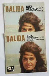 DALIDA ♦ LOT DE 2 x EP LABELS DIFFERENTS ♦ EUX (voyez détails, see below)