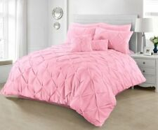 Pintuck Duvet cover sets pillowcases double super king single size bedding quilt