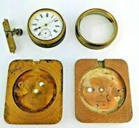 Various Swiss Clock Parts Including Case Pieces, Fronts and Movement (AI4)