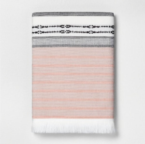 Engineered Ombre Border Bath Towel by Hearth and Hand with Magnolia