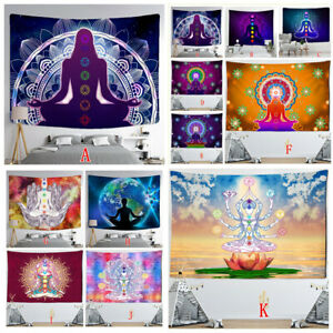 Meditation Yoga Buddha Tapestry Wall Hanging Hippie Tapestries Throws Art Decor