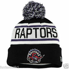 Toronto Raptors Biggest Fan Winter Beanie Pom Stocking Hat Cap New Era Knit NBA