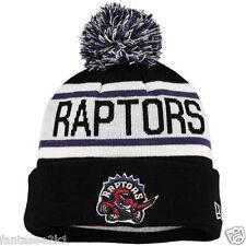 Toronto Raptors Biggest Fan Winter Beanie Pom Stocking Hat Cap New Era Knit NBA