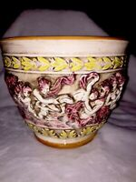 Unique Hand Painted Capodimonte Planter N Crown Italy Paul's Products
