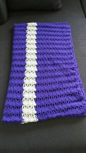 Hand Knitted Blanket -Throw Blanket -Baby Blanket