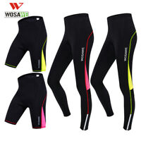 Donna Pantaloni da ciclismo Gel imbottito MTB in bicicletta Sports Pants Shorts