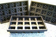 10  X  CARRY TRAYS FOR 7CM SQUARE PLASTIC PLANT POTS
