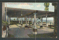 1910s PERGOLA IN FRONT OF A CALIFORNIA RESIDENCE POSTCARD  M RIEDER PUBL