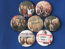 Little Big Town New set of 7 Pinback Button Badge Pins country ride  biscuts***