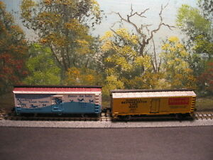 ATLAS N SCALE #2397 MORRELL REEFER #9210 & 2366 GERBER WOOD REEFER CAR