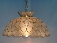 Genuine Capiz. Flower Design Swag Lamp in ( 1 Natural, 2 Pink and 3 Blue)