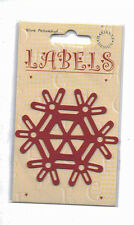 Labels/Stencil/Christmas/Snowflake/Emboss/Embossing