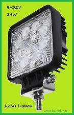 Arbeitsscheinwerfer 12V 24V 24W LED 1250lm Scheinwerfer ATV Kfz Lkw Geländewagen