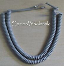 Meridian Norstar Option Nortel BCM Handset Curly (Coiled) Cord Grey x 2