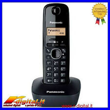TELEFONO CORDLESS PANASONIC KX-TG1611 BIANCO NERO RED DISPLAY LCD TAVOLO PARETE