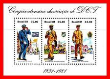 BRAZIL 1981 POSTAL UNIFORMS S/S MNH UNmounted ** COSTUMES