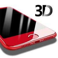 Red Full Edge To Edge Cover 3D Tempered Glass Screen Protector For iPhone 6/6s