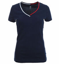 Tommy Hilfiger Damen V-Neck Shirt T-Shirt darkblue
