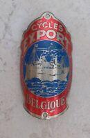 Vintage cycles EXPORT Belgium bicycle headbadge bike belgian badge