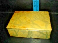 "Vintage Alabaster Marble Stone Trinket Box Rectangle 6"""