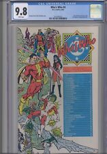 """Who's Who #4 CGC 9.8 1985 A DC Comic : """"C"""" Wrap-a-round Cover with New Frame"""