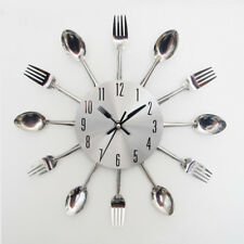 Kitchen Wall Clock Spoon Fork Creative Quartz Wall Mounted Clocks Modern Design