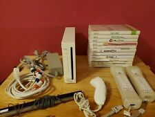 Nintendo Wii White Console  Bundle With Games