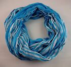 Look by M infinity scarf stripes cotton silk blend