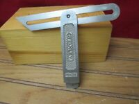"""Vintage STANLEY No. 18 sliding T Bevel Square 6"""" Very Nice Condition"""