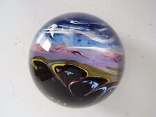 ERIC HANSEN Signed Molten Crystal GVAG Abstract 07 97 PAPERWEIGHT Mountains