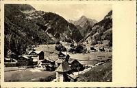Hinterbichl Tirol s/w AK 1955 gelaufen Hotel Pension Wiener Sängerknaben Totale