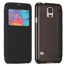 Smartcover Window Negro para Samsung Galaxy S5 G900F Plus G901F Funda funda