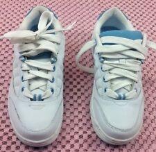 Lower East Side Sz 9 M Women's White Blue Walking Shoes leather Sneakers #S147