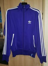Adidas Originals Retro Track Jacket Top Sportswear Purple/White - Size Small