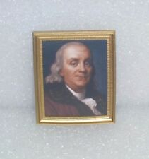 OOAK Framed Photo /  Picture For Barbie, or Doll House~*~Ben Franklin