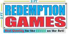 REDEMPTION GAMES Banner Sign NEW Larger Size Best Quality for The $$$$