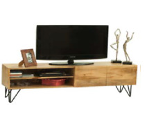 Mueble para Televisor o mesa para TV Vintage industrial de madera maciza