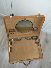 Uromas Kosmetikkoffer Lederkoffer alt antik Koffer Rarität um 1900