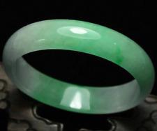 Jade Bangle Bracelet Handmade 01 55-60mm Certified Natural Emerald Green Jadeite
