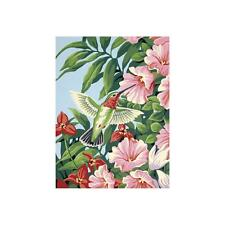 PAINTWORKS Paint by Number Kit HUMMINGBIRD FUCHSIAS 9 x 12 inches Dimensions