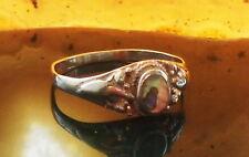 Anello in argento 925 con CONCHIGLIA paua Lago Opale 18,8 mm Sterling