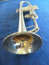 Unplayable SILVER 1926 YORK, Bb/A trumpet, case, mp VIDEO (196)