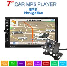 "Bluetooth USB aux GPS mapa 2din reproductor mp5 7"" auto FM Estéreo +cámara Coche"