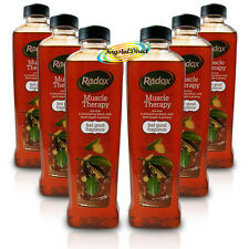 6x Radox Muscle Therapy Herbal Bath Soak 500ml With Black Pepper & Ginseng