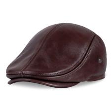 Boina de Invierno de Cuero Sombrero Hombres De estilo cómodo noticiero desgaste del cabezal Accesorios