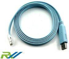 USB to RS232 Serial to RJ45 CAT5 Console Adapter Cable for Cisco Routers FTDI
